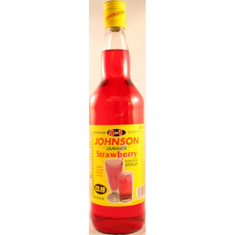 Jamaica Strawberry Syrup - Jes Afro Caribbean Foods Online Store